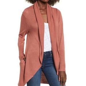 B2G1 Leith Easy Circle Wool Open Front Cardigan